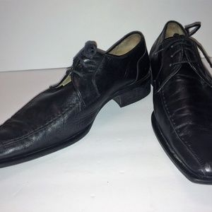 bb820b505d11ff Winchester Shoes - Mens Winchester Black Leather Dress Shoes by UC-EL